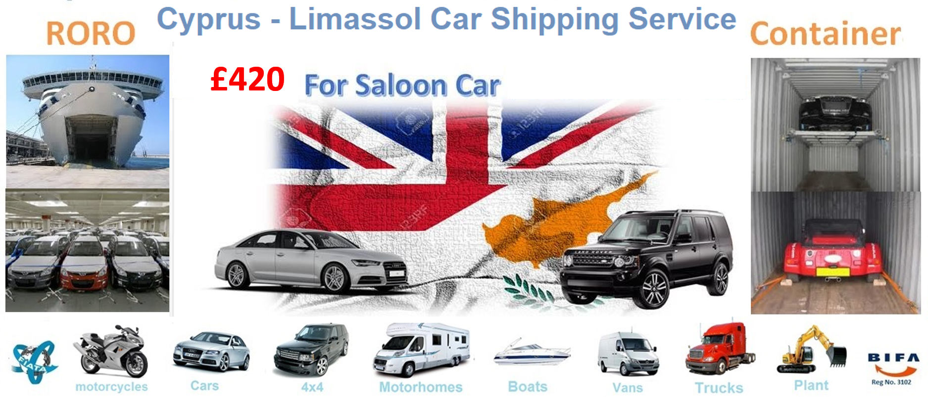 Car Shipping to Cyprus - Car Shipping to Limassol, Roll-on/roll-off